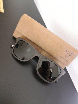 Gafas de sol redondas multicolor madera