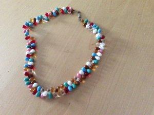 Pearl Necklace multicolored glas