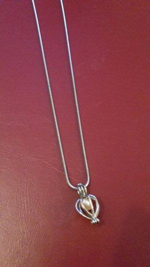 Colliers ras du cou argenté-vieux rose métal
