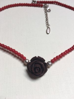 Necklace red-brown red