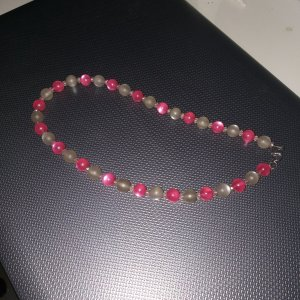 Pearl Necklace grey-pink