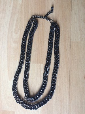 Link Chain black-silver-colored