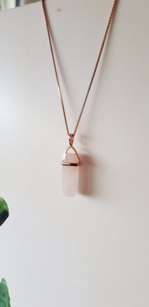Silver Chain rose-gold-coloured real silver
