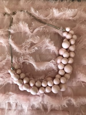 Reserved Pearl Necklace silver-colored-pink