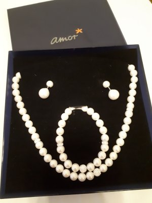 amor Pearl Necklace white-silver-colored