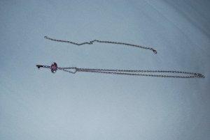 Kette / Armband Set von Pierre Lang mit Schlüssel Anhänger mit rosa Zirkon - toll!
