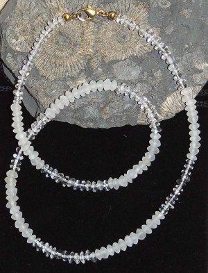 Kette aus Bergkristall matt und klar