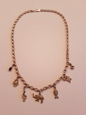Chain gold-colored-silver-colored real silver