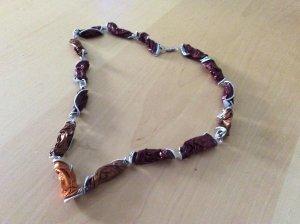 Cadena de eslabón marrón-marrón claro