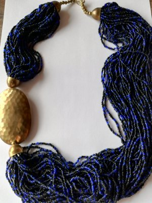 Collier Necklace dark blue-black