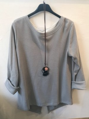 Made in Italy Blouse à manches longues gris