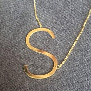 Kette Buchstabe S initial Statement gold aus Edelstahl