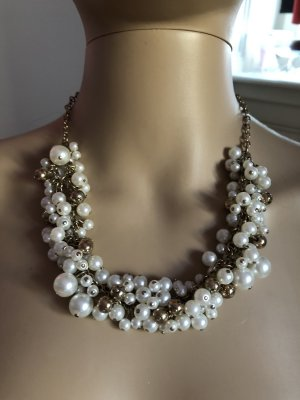 Pearl Necklace gold-colored-white