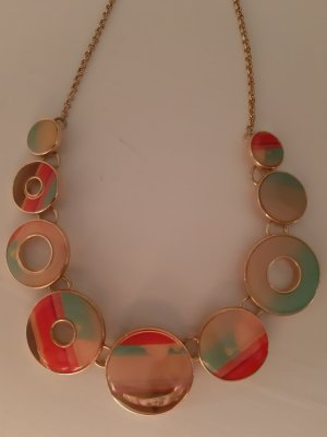 Desigual Statement Necklace apricot-sage green
