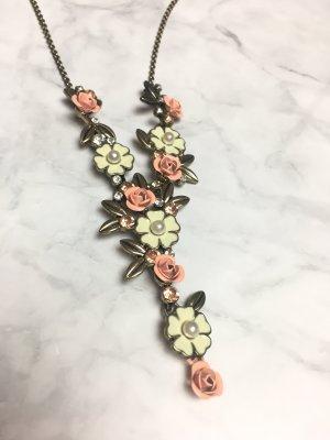 Kette floral Blumen gold roségold