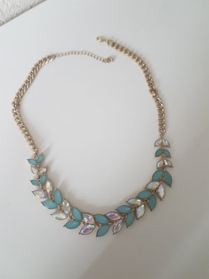 Necklace gold-colored-pale green