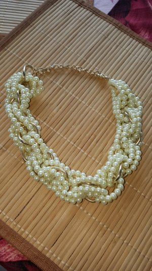 Collar de perlas blanco-color oro