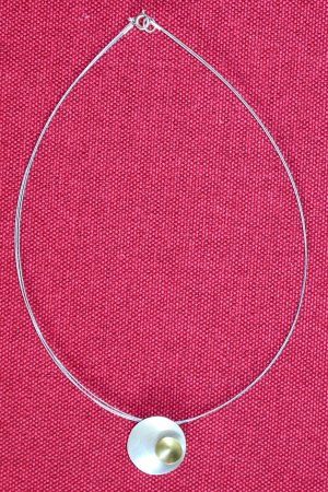 Kette Goldschmiedearbeit rund zweifarbig Gold Silber schlicht edel