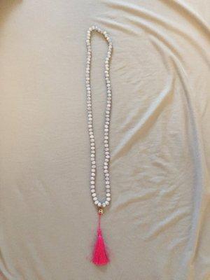 Kette grau/pink lang