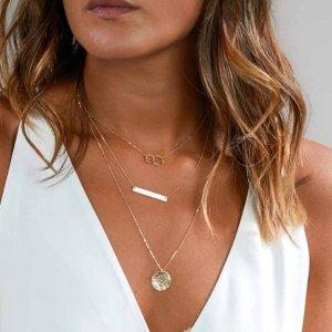 Kette Halskette Damen blogger Modeschmuck silber
