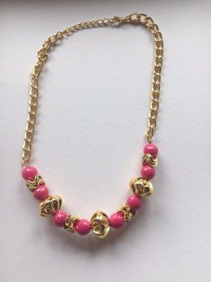 Kette Halskette Kurzkette *Gold-Pink*