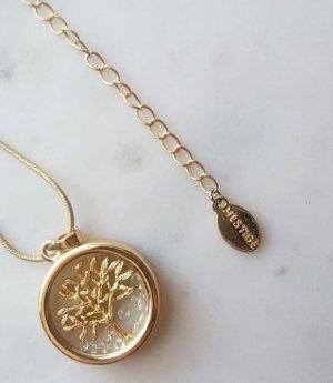 Kette Halskette mit Lebensbaum und Swarovski Steinen in Gold von Mestigé