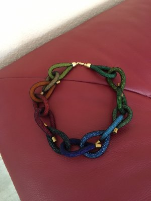 Necklace dark blue-dark green