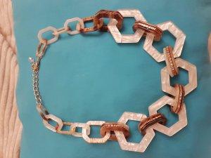 Kette im 70' s look - transparent/meliert