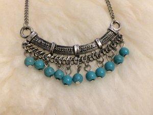 Kette in Silber / Blau