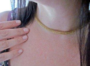Kette Ionenplatiert Gelb Gold gefüllt mit Zirkonia Steinen