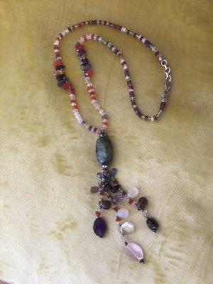 Necklace multicolored real silver