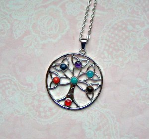 Necklace silver-colored metal