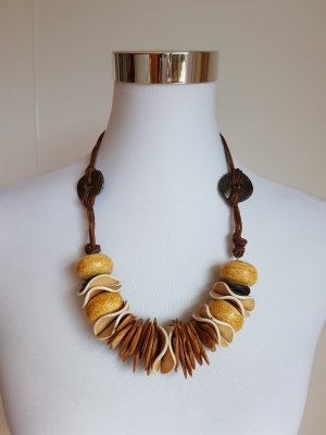 Collier Necklace brown-black wood
