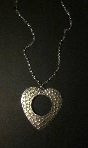 Pendant silver-colored-grey metal