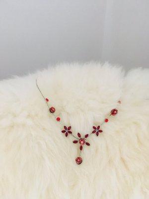 Collar estilo collier carmín-rojo ladrillo