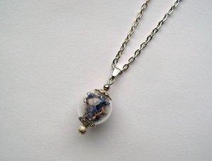 Collar color plata metal