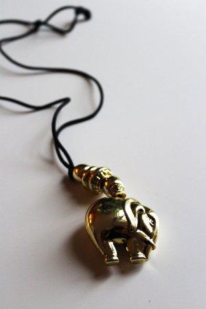 Kette mit Elefanten-Anhänger, gold