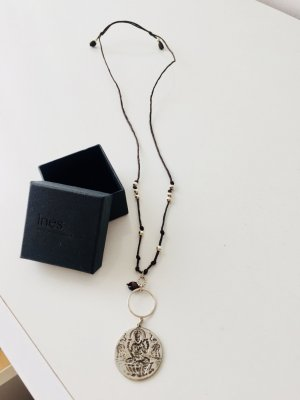 Cadena color plata-azul oscuro
