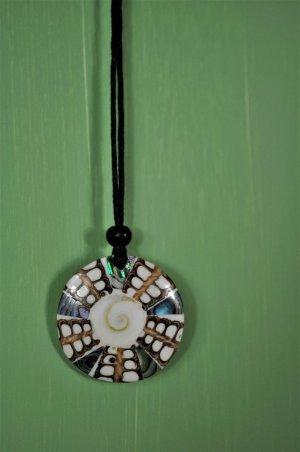 Kette mit Muschel und Mosaik / Abalone Muschel / Paua Muschel