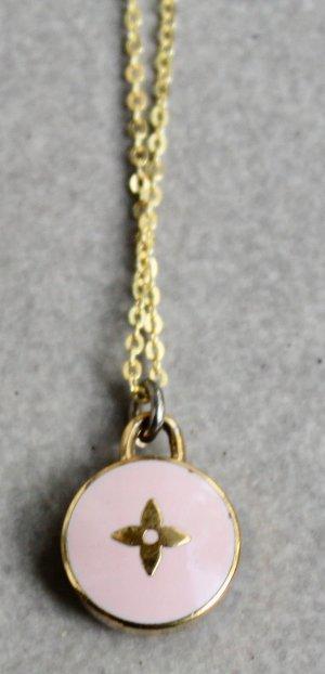 Kette mit original Louis Vuitton LV Anhänger 50cm Halskette