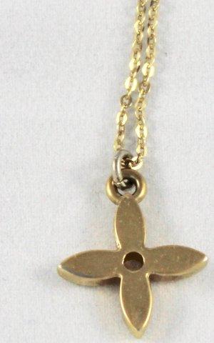 Kette mit original Louis Vuitton LV Anhänger 50cm Halskette Blume
