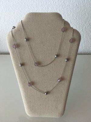 Collar color plata-rosa