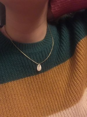Necklace gold-colored-white