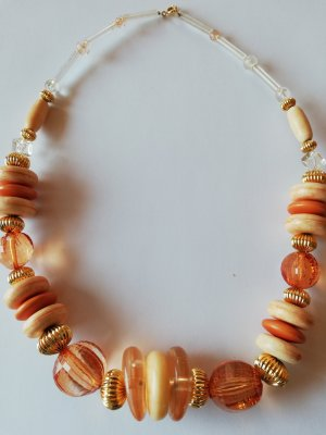 Collier Necklace oatmeal-orange