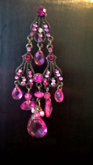 Collier Necklace pink metal