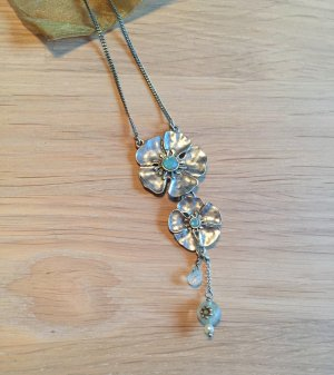 Kette Pilgrim Silber Blüten Blumen Kirschblüten türkis