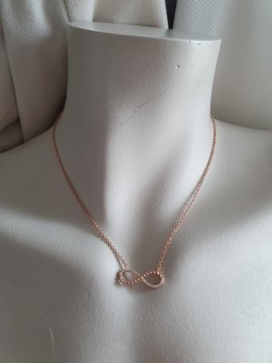 s.Oliver Necklace rose-gold-coloured real silver