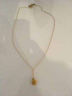 Kette Schmuck Gold Accessoires Muschel neu maison scotch