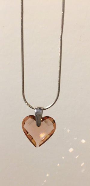 Kette Silber mit funkelndem Herz