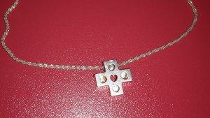 Kette Silber mit Kreuzanhänger